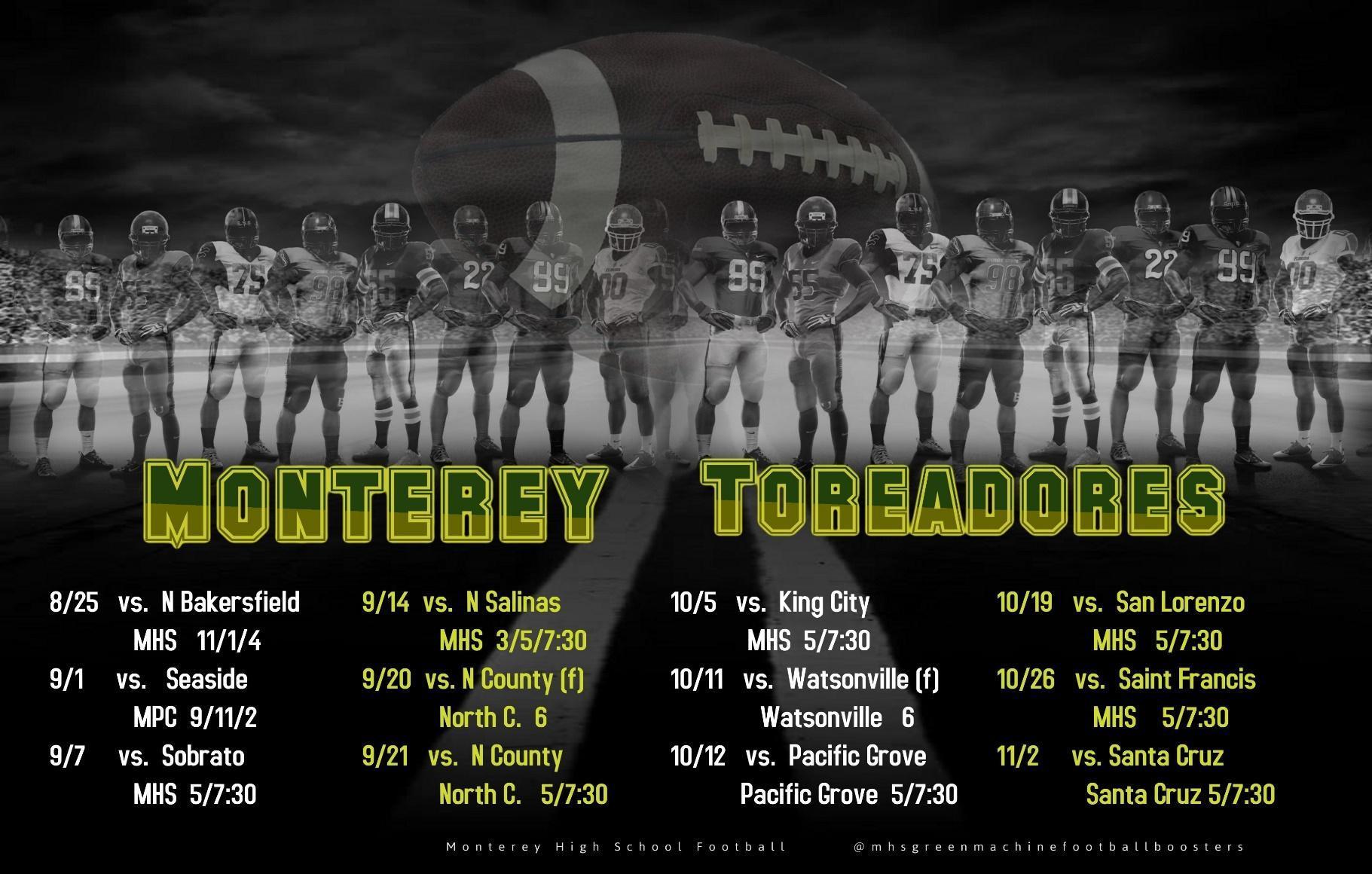 MHS Football Schedule