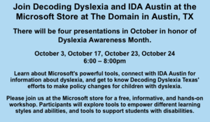 October is dyslexia month!