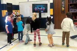 PE Class at Westwind Elementary