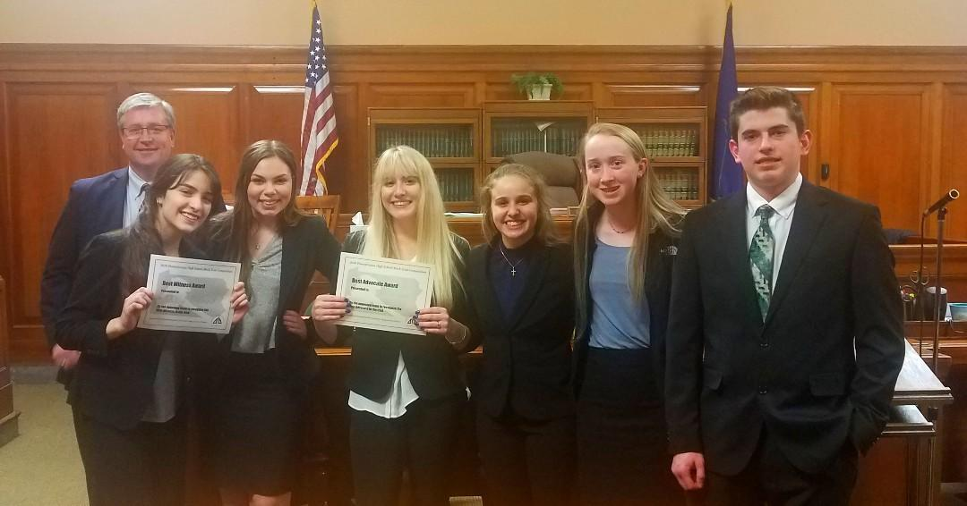 Mock Trial Team after competition