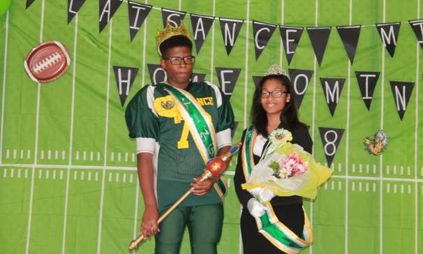 Plaisance Middle School King & Queen Bryce May and Alalah Duckless!