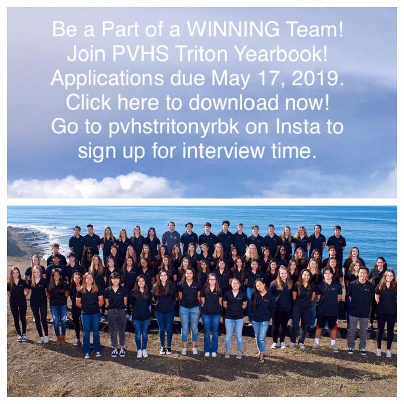 Triton Yearbook Applications Thumbnail Image