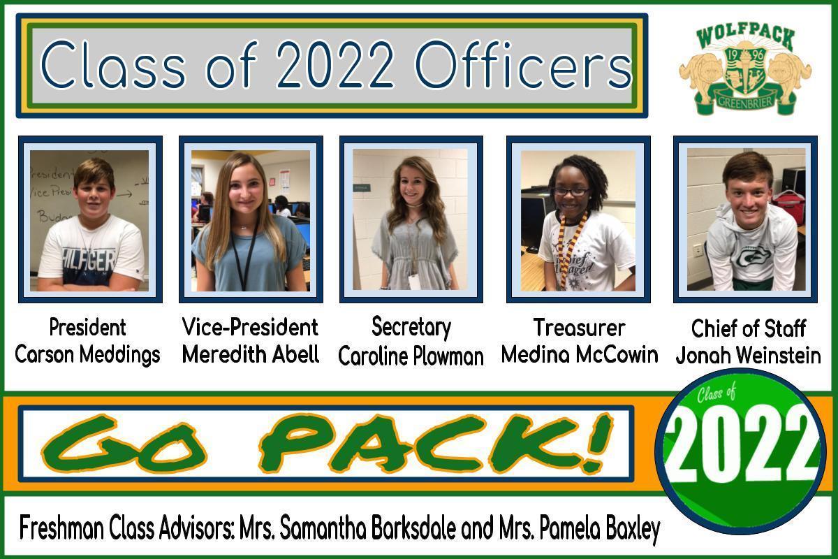 Freshman Officers