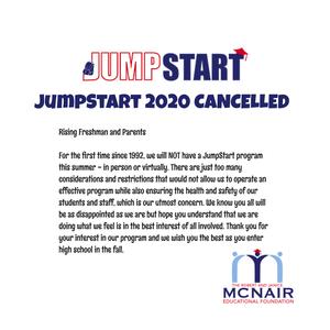 Jump Start 2020 Cancelled