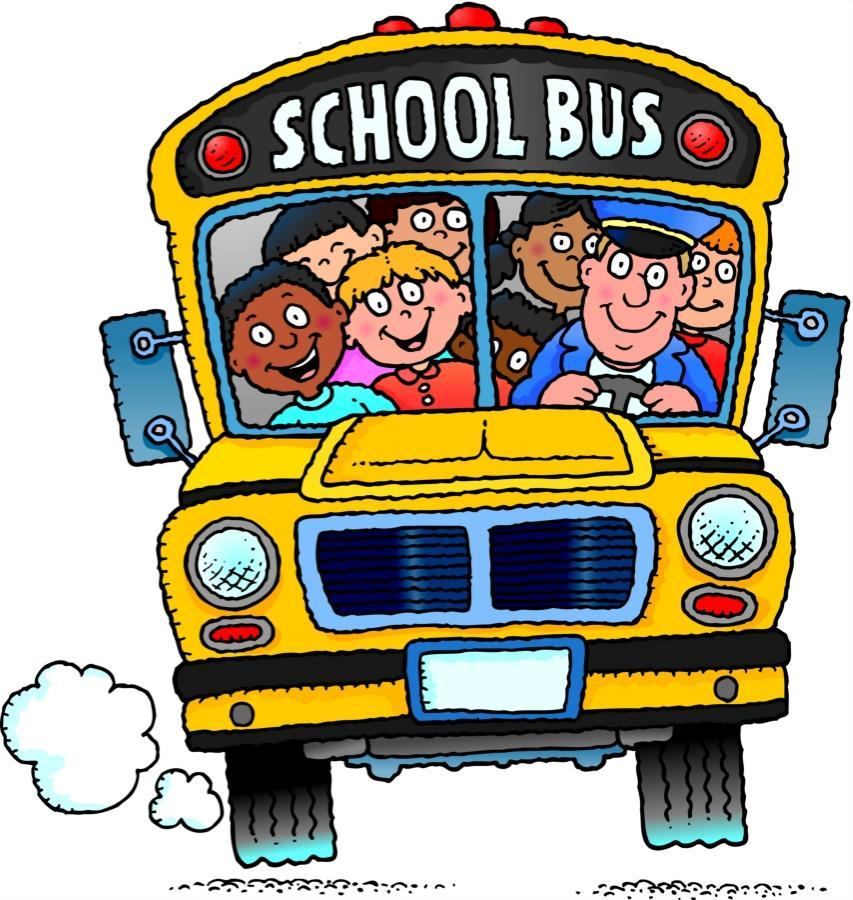 Picture of School Bus with Kids