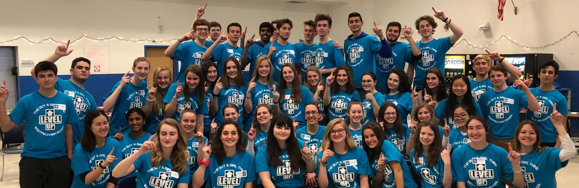 ":  Dubbed the ""Wingmen"" and ""Cover Girls"" because they ""take underclassmen under their wings and provide emotional cover,"" 45 WHS juniors and seniors facilitated the annual Guy & Girl Thing at Westfield High School on March 22."