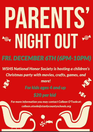 Parents' Night Out Friday, December 6th (6pm-10pm) Featured Photo
