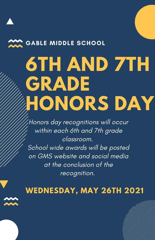 6th & 7th Grade Honors Day