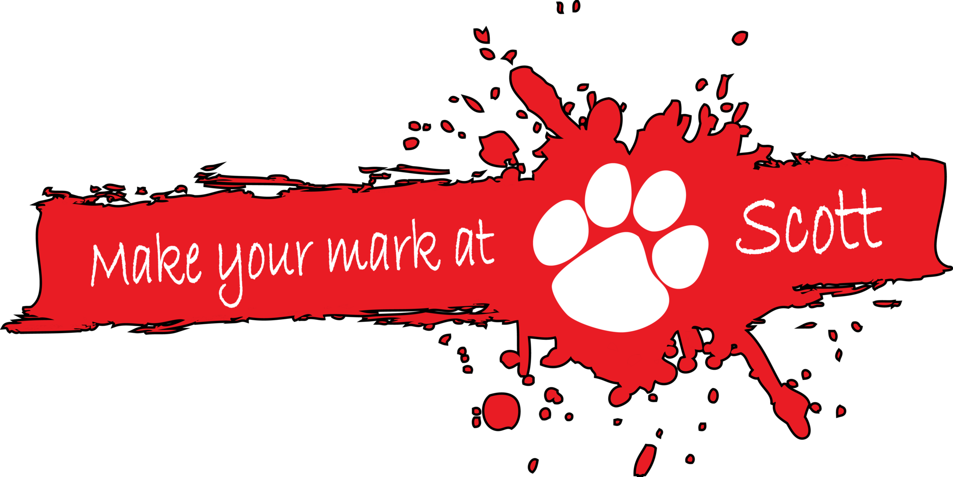 'Make Your Mark at Scott' theme logo.