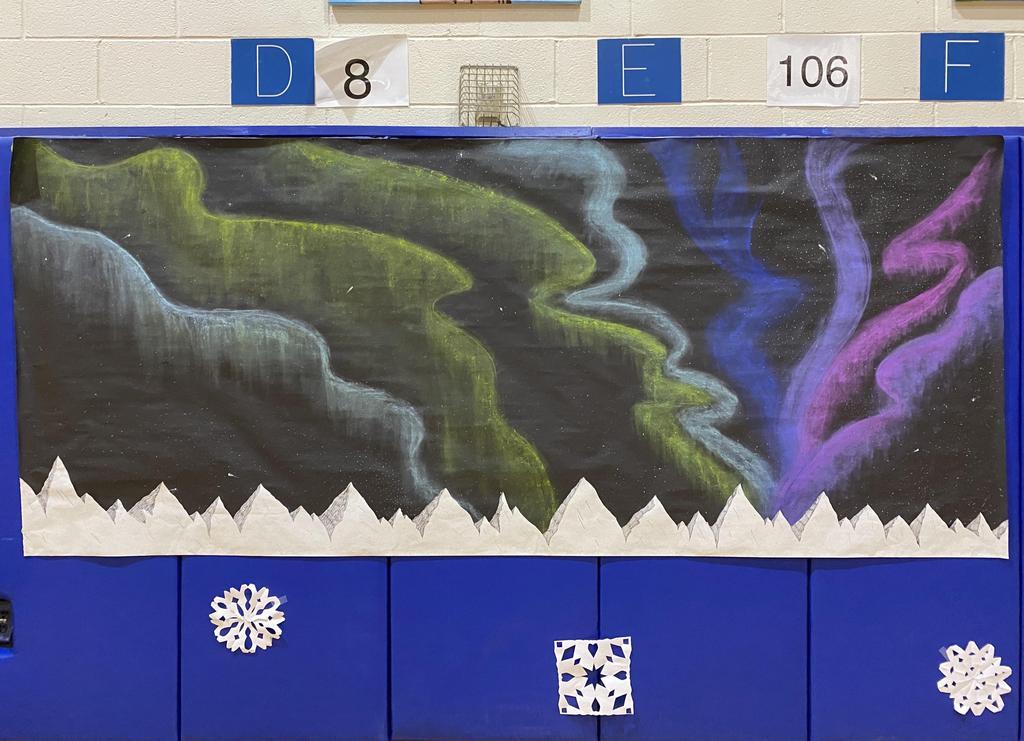 student modern artwork on display