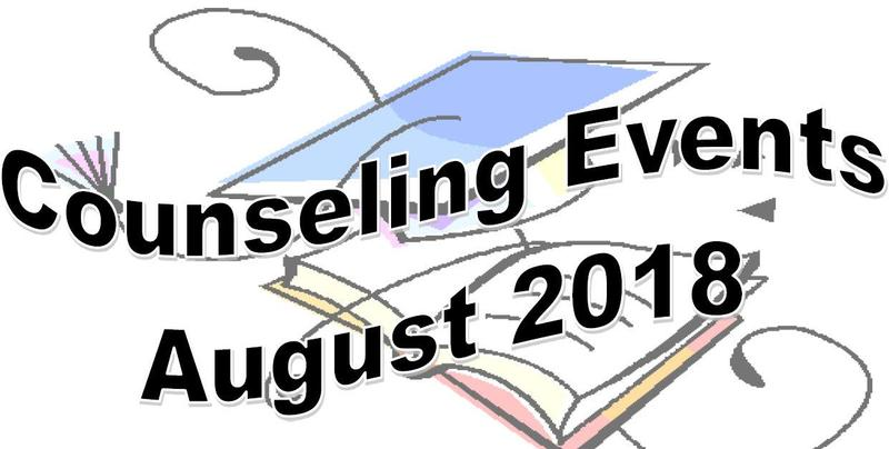 Counseling Events for August 2018 Thumbnail Image