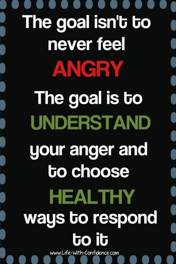 The goal is to understand the anger