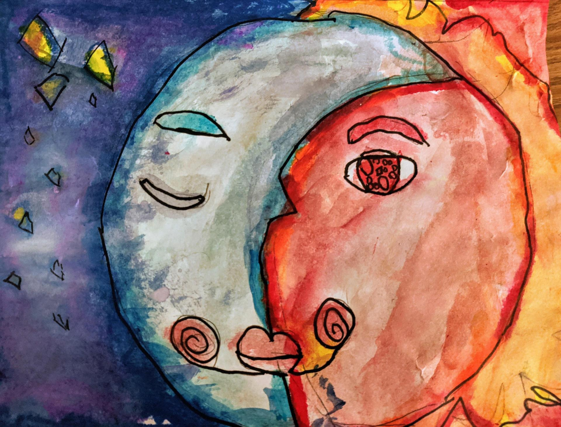3rd Grade Picasso Sun and Moon