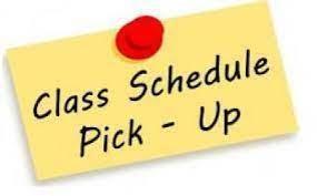 Class Schedule pick up