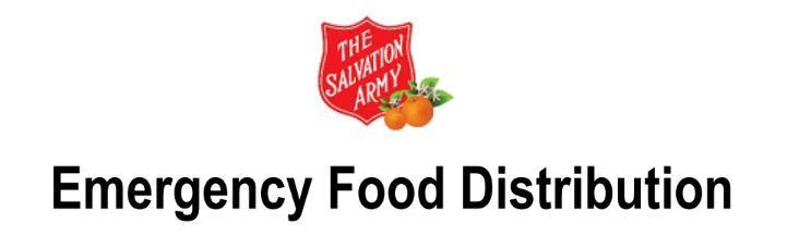 Red Shield Emergency Food Distribution
