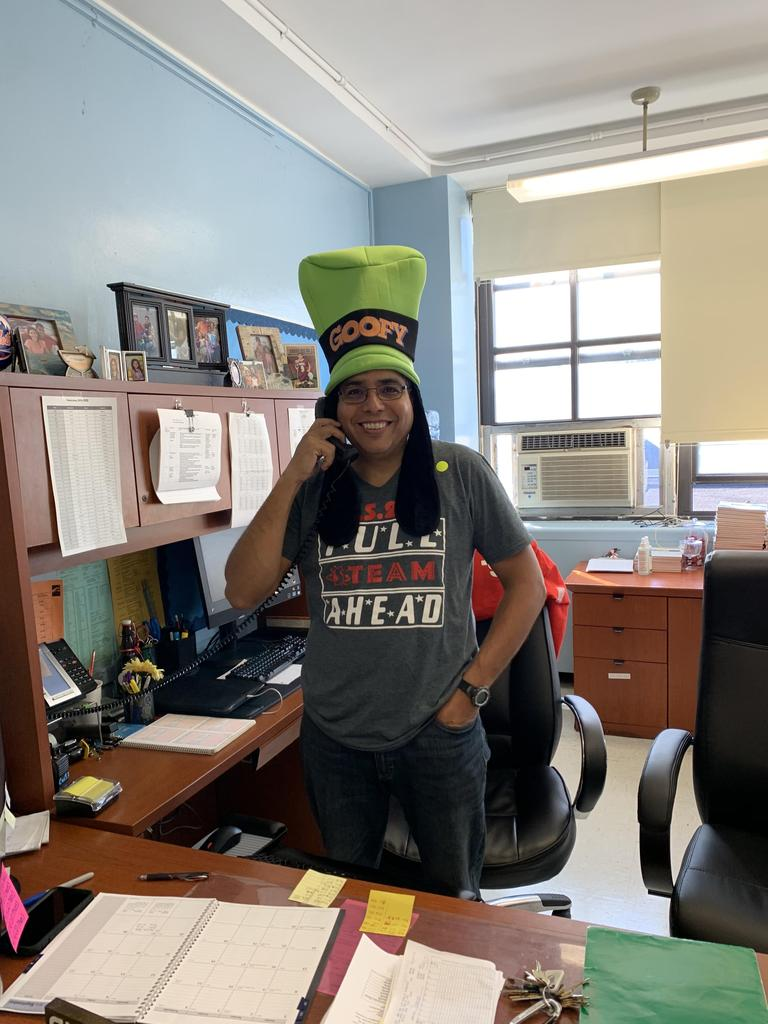 Mr. Borrero participating in Hat Day for St. Jude's Children's hospital