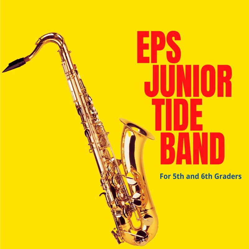 A cutout of a saxophone