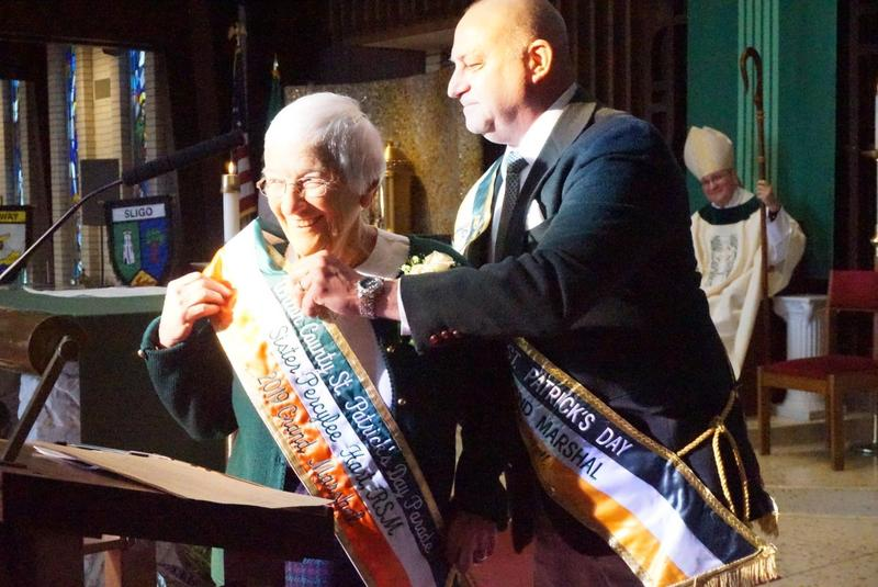 UC Principal Sister Percylee Hart, RSM, is installed as Grand Marshal of the Union County St. Patrick's Day Parade Thumbnail Image