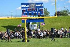 The Bensalem Band played Pomp and Circumstances as the processional of graduates entered the stadium