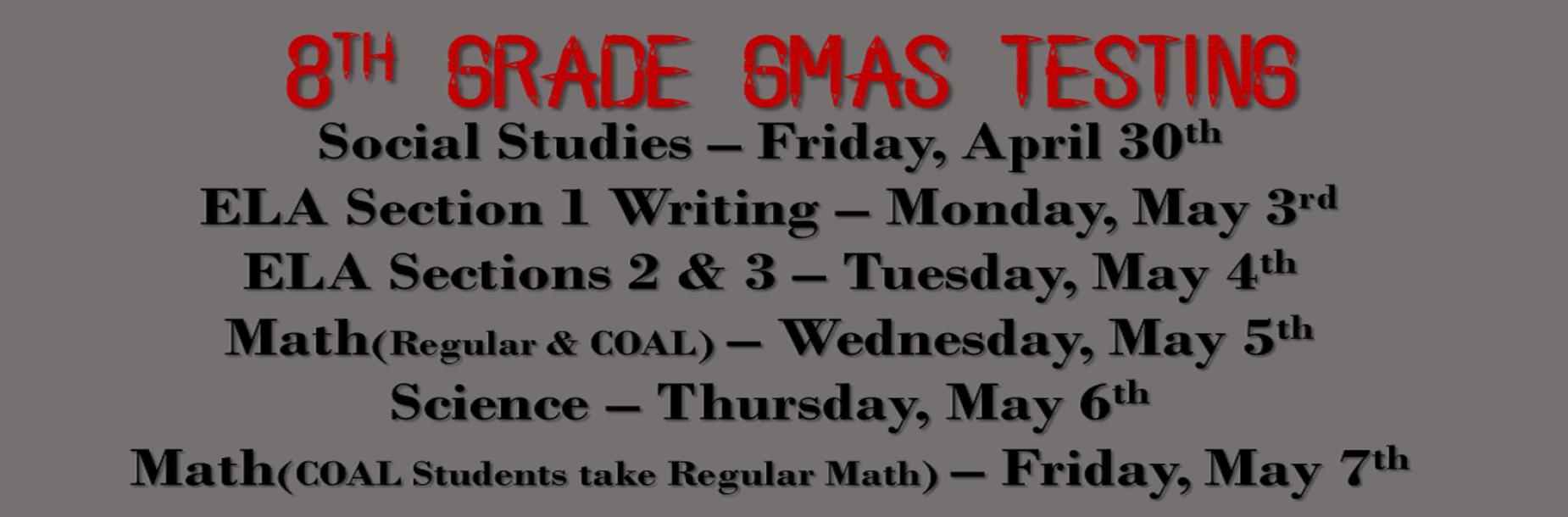 8th Grade GMAS