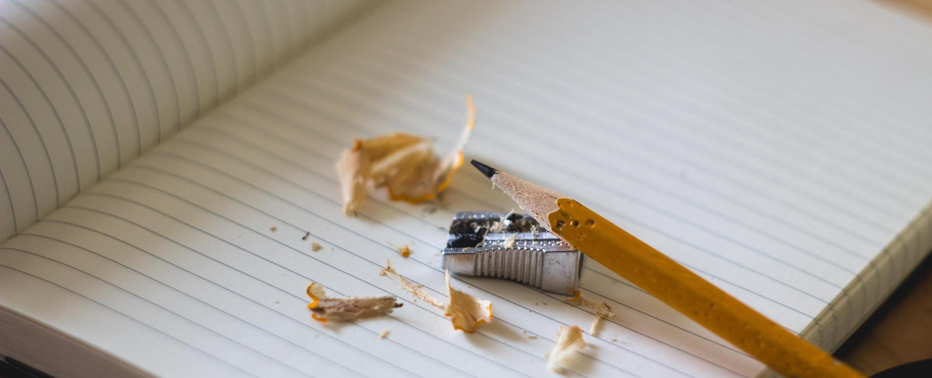Pencil getting sharpened