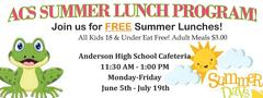 link to page with information about the ACS summer lunch program.