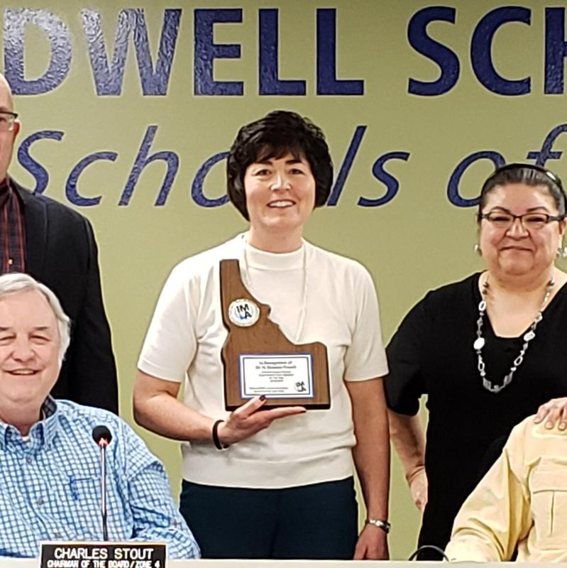 Caldwell educator honored by state association Thumbnail Image