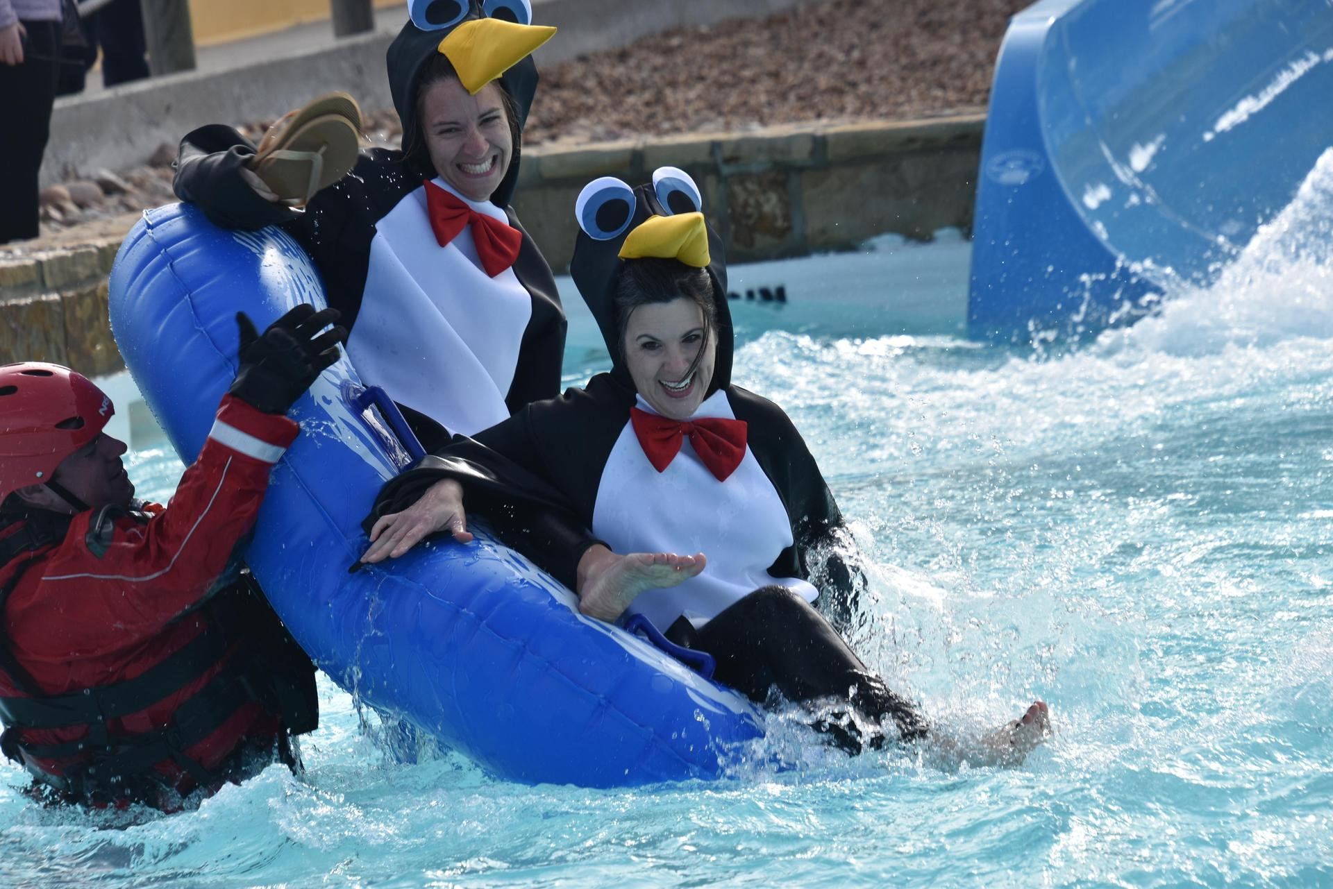 North Elementary team plunges at the 4th annual BRRRewer Bear Plunge.