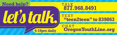Oregon youth hotline image