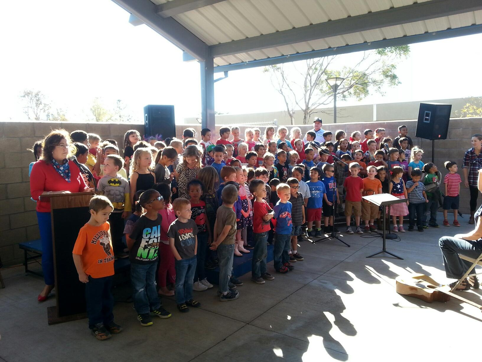 Young students performing for Veterans