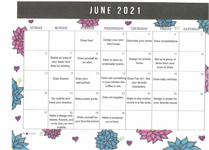 Calendar of Art for June