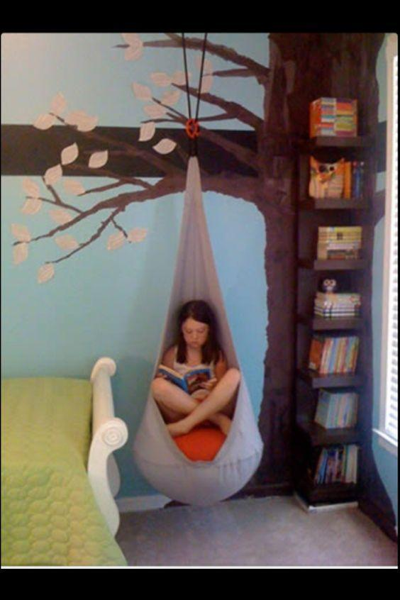 image of girl reading in a cozy corner