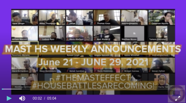 MAST Weekly Announcements for June 21-29
