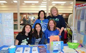 Baldwin Park Unified's 20 schools highlight key programs during the inaugural District Showcase on March 2. The National Alliance on Mental Illness (NAMI) Club leaders and advisors from Baldwin Park High School share information on the many opportunities available through the student-led club.