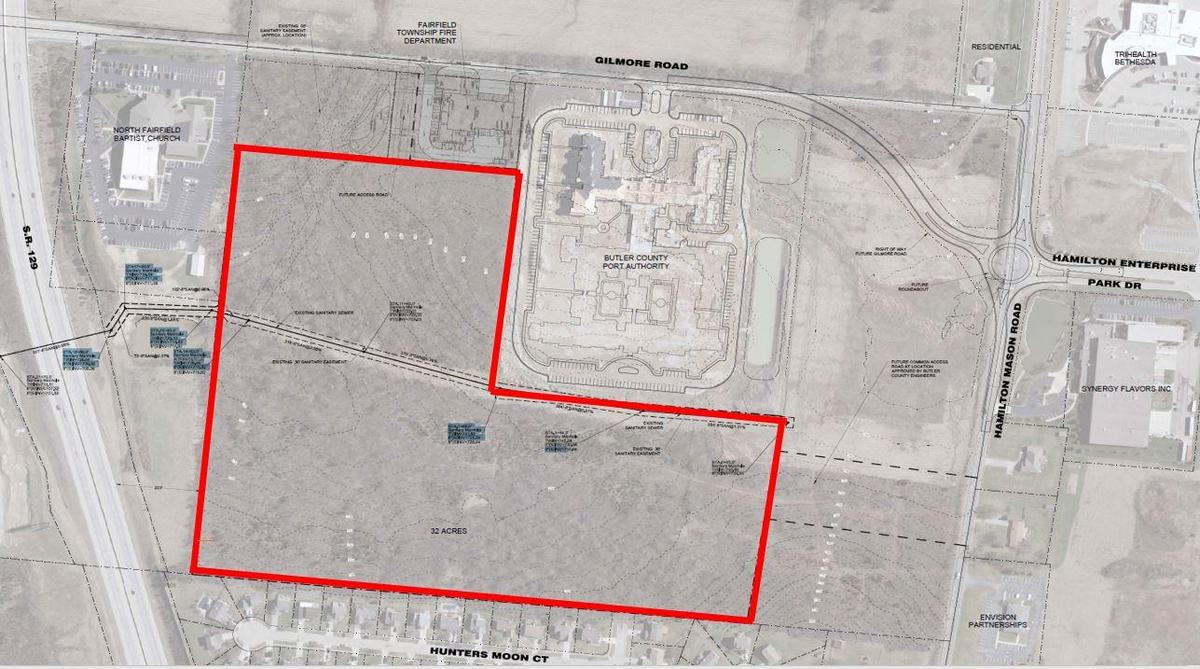 Map of the location of the purchased land