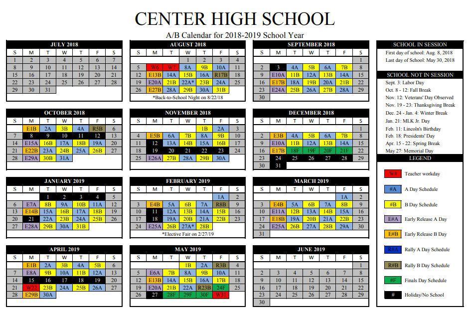 A/B Calendar 2018-2019