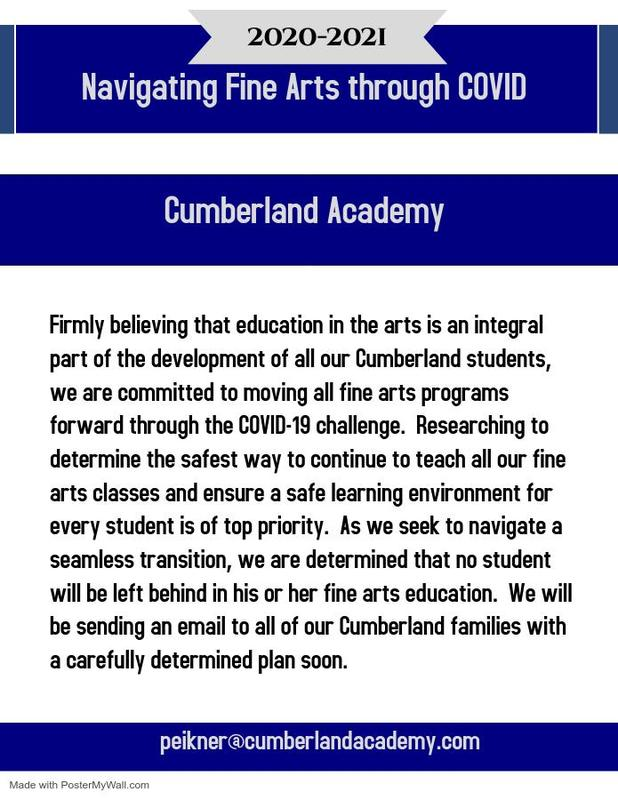 Update From The Fine Arts Director Featured Photo
