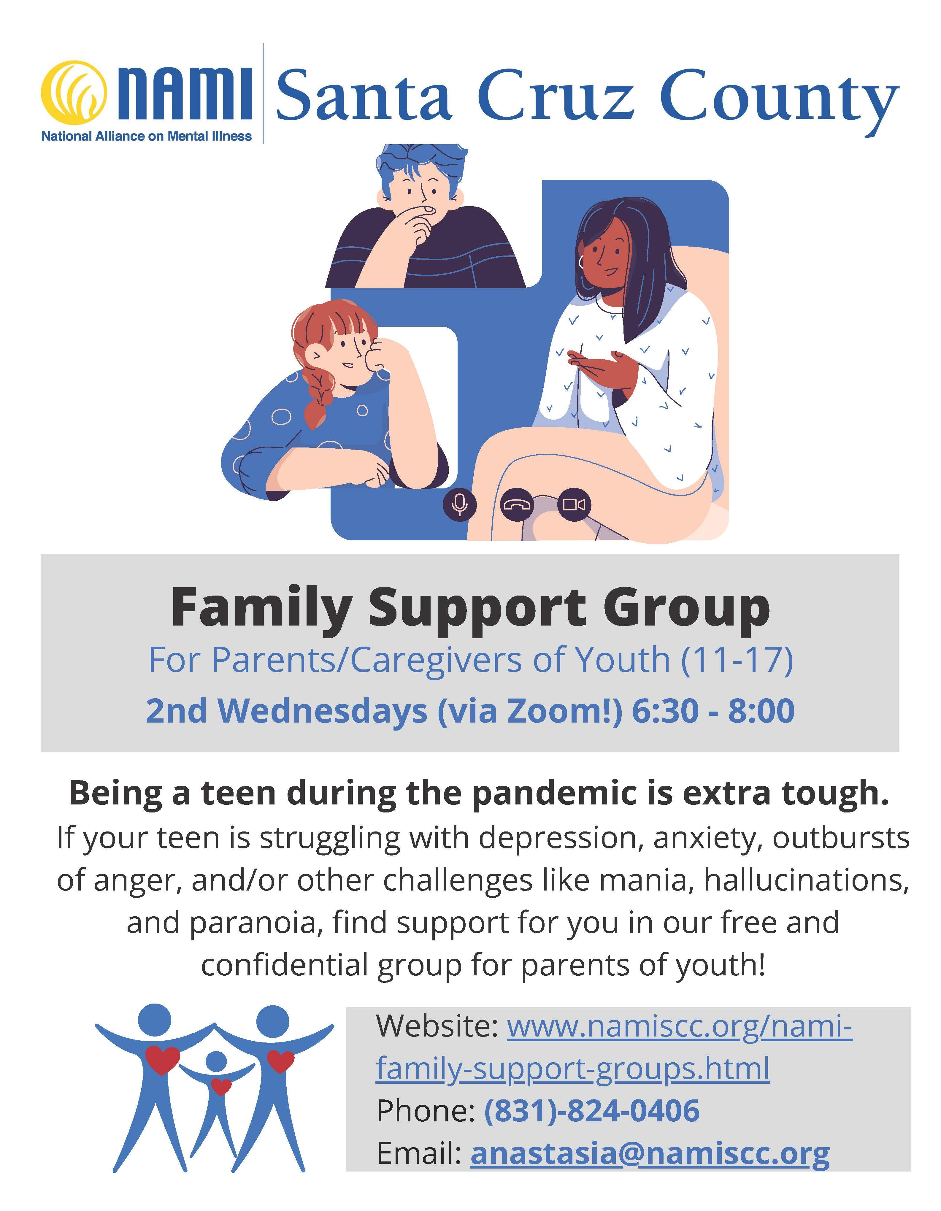 Family Support Group; Phone: (831)824-0406
