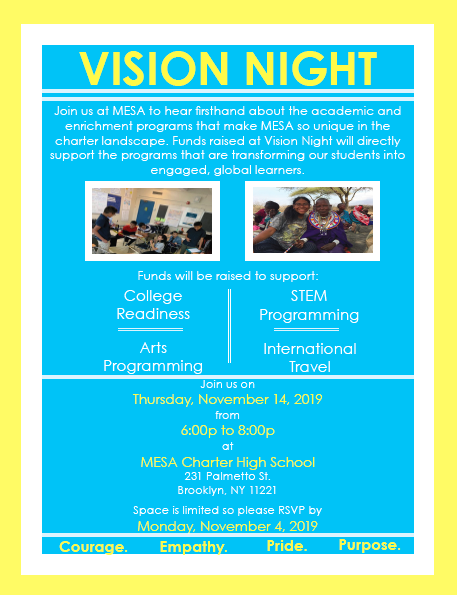 Vision Night Invite