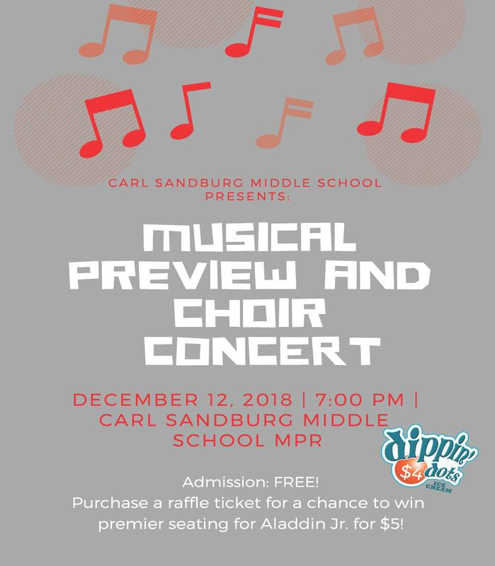 Picture of flyer promoting the preview concert