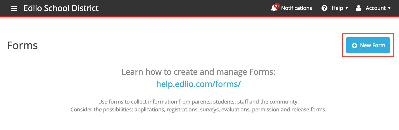 Click New Form