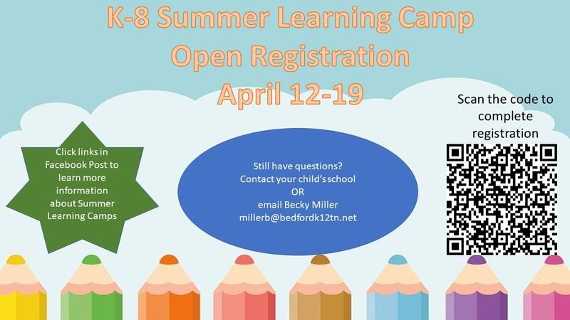 K-8 Summer Learning Camp Open Registration Featured Photo