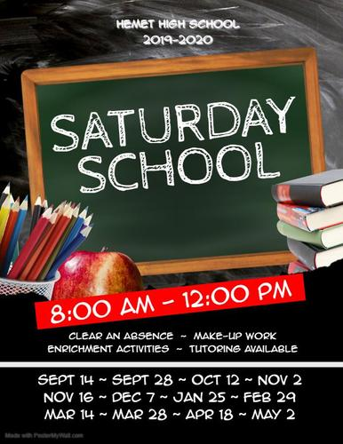 Saturday school flyer