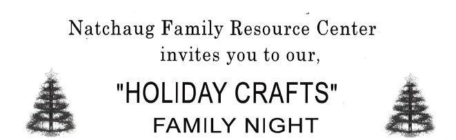 Family Resource Center Holiday Crafts Night December 20, 6 to 7:30 PM Thumbnail Image