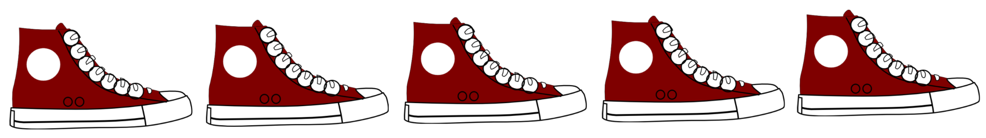 clip art of sneakers