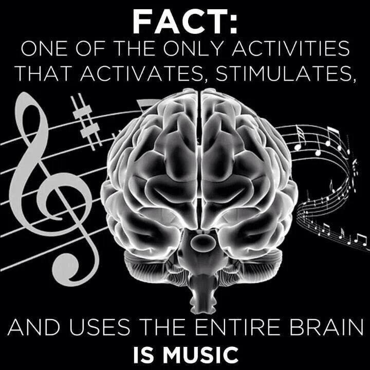 Music is one of the only activities that uses the entire brain.