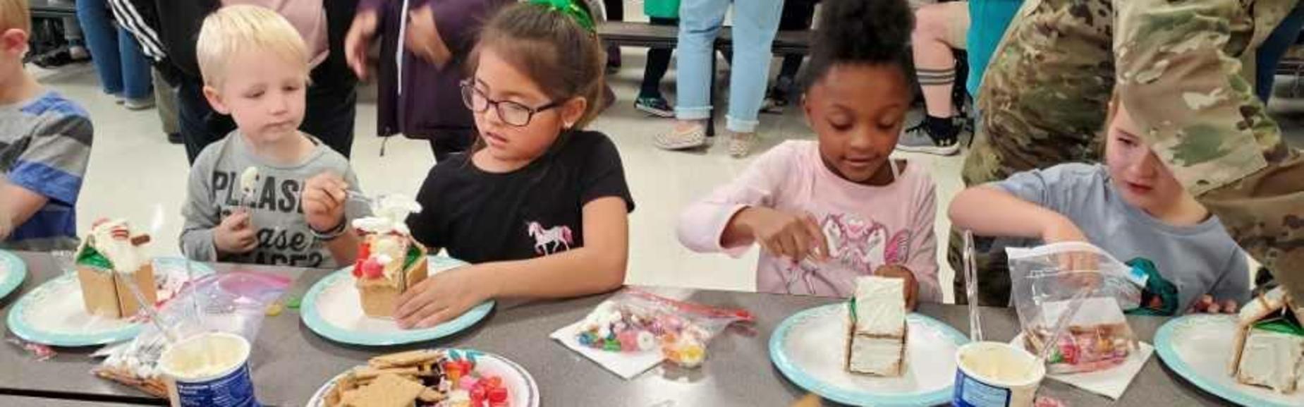 CJES Kinder Gingerbread Houses