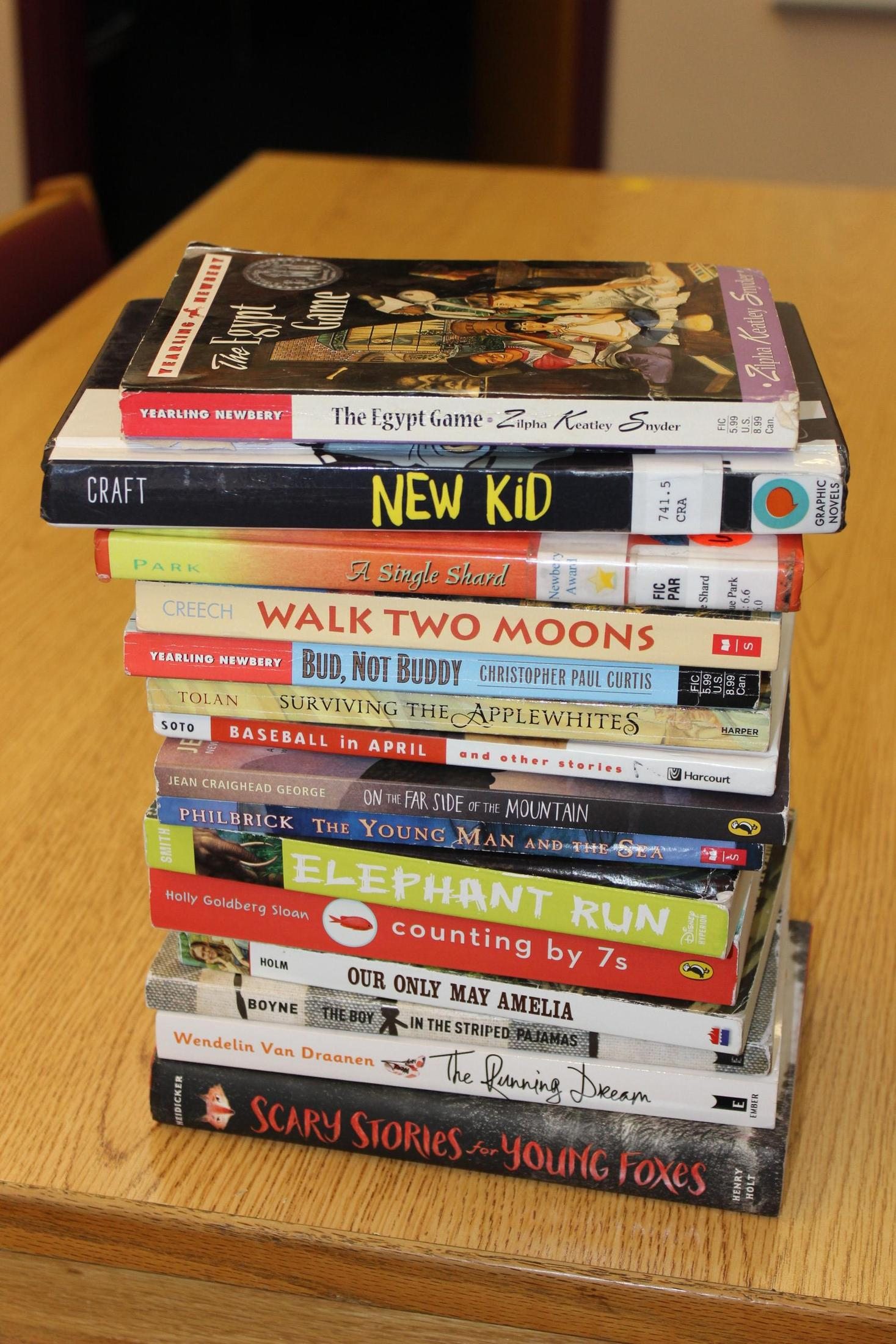 stack of books read for virtual event