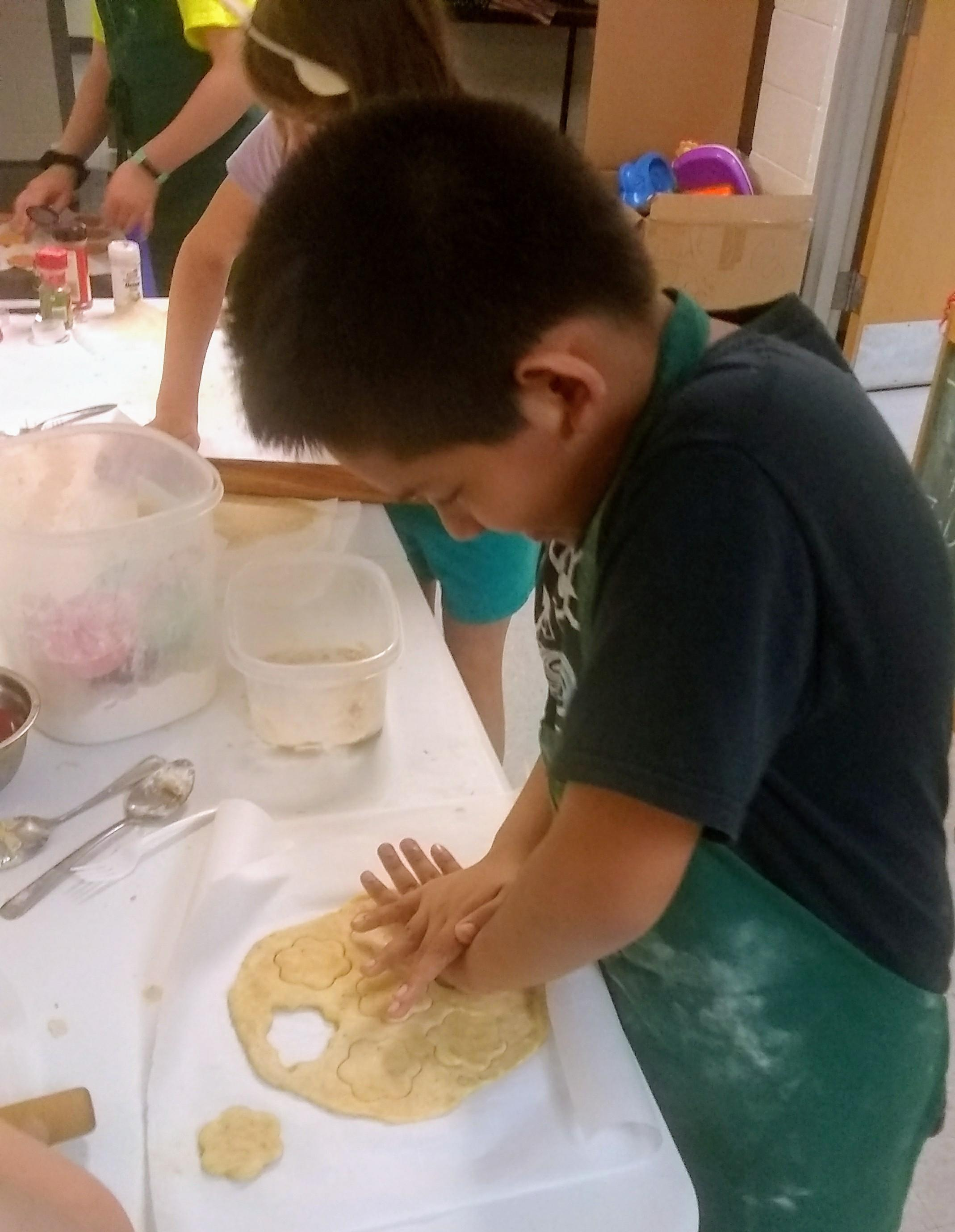 students making crackers