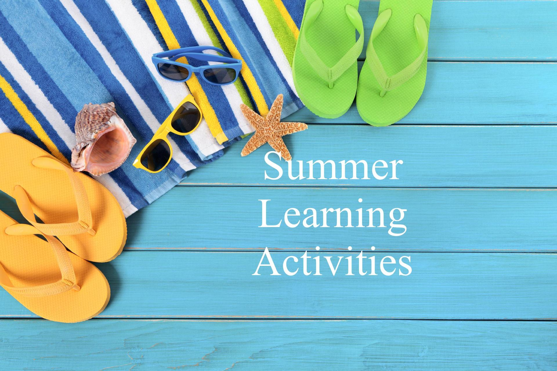 summer learning activities icon/link